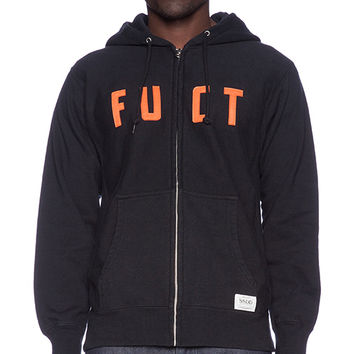 Fuct SSDD Zip Hood in Black