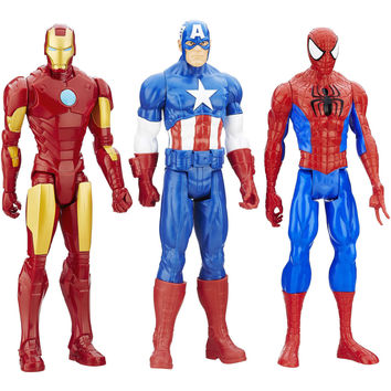 Marvel Titan Hero Series, 3-Pack Siperman Captain America Iron Man