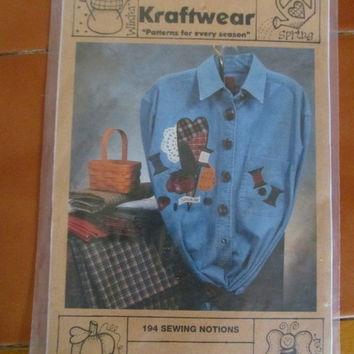 Sale LOT of 3 Patterns for stitching,quilting, shirt designs, appliques, embroidery transfers, cats, vintage notions.