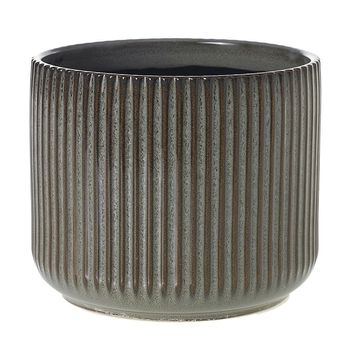 """Ceramic Pot in Brown and Grey - 5.75"""" Tall x 6.75"""" Wide"""