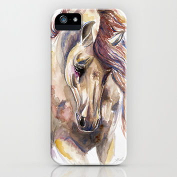 Colored Horse iPhone & iPod Case by Kelley Meredith Art