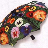 Salamander Graphix - Adult Pansies Compact Umbrella