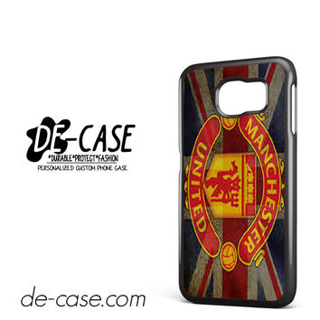 Manchester United Logo And Flag DEAL-6829 Samsung Phonecase Cover For Samsung Galaxy S6 / S6 Edge / S6 Edge Plus