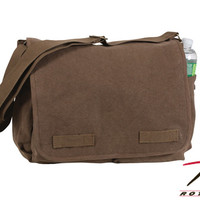 Rothco Heavyweight Canvas Classic Messenger Bag - Earth Brown