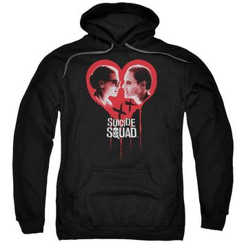 ac spbest Suicide Squad - Joker Spits Game Adult Pull Over Hoodie