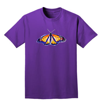 Watercolor Monarch Butterfly Adult Dark T-Shirt