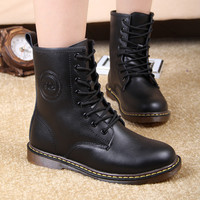 New Style Dr. Genuine Leather women Boots Martin winter Shoes for Women Brand Marten Dr Designer Motorcycle Boots