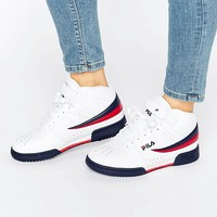 Fila | Fila F-13 Mid Trainers In White at ASOS