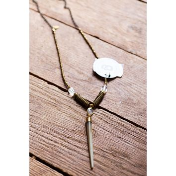 The Nash Necklace, Gold Taupe | BPD