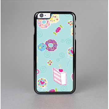 The Subtle Blue with Pink Treats Skin-Sert for the Apple iPhone 6 Plus Skin-Sert Case