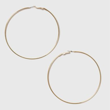 Gold Large Hoop Earrings | Topshop