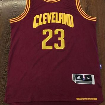 KUYOU Cleveland Cavaliers LeBron James Red wine 100% Authentic Jersey