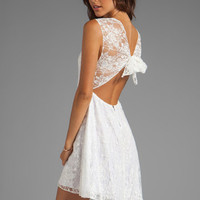 Alice + Olivia Eston Back Tie Flowy Dress in White from REVOLVEclothing.com