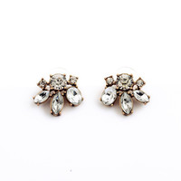 Claire Crystal Stud Earrings