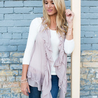 Ethereal Beauty Lace Vest Lavender