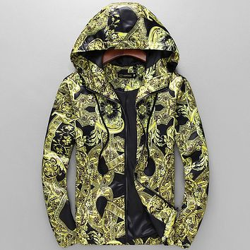Versace Fashion Casual Loose Hooded Cardigan Jacket Coat