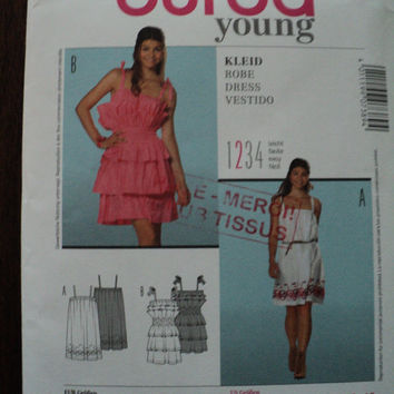 sewing pattern Burda 7389 new uncut size 6 to 18 new dress for women