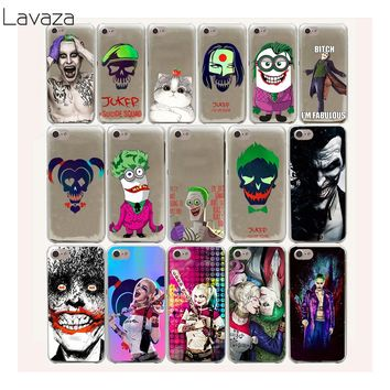 Lavaza 20FF Suicide Squad Joker Harley Quinn Hard Case For iPhone 8 7 6 6s Plus 5 5s 5C SE 4 4S cover X 10