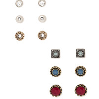 Faux Gemstone Earring Set