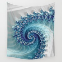 Sound of Seashell - Fractal Art Wall Tapestry by jilla