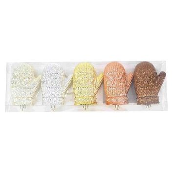 Holiday Mitten Ornament Set 5ct