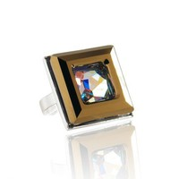 Dorado Ring  Swarovski Crystal Sterling Silver by LeelaBijou