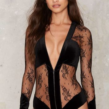 Just What I Needed Velvet Bodysuit