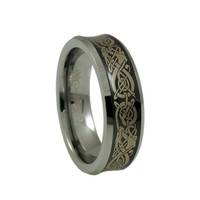 Women Tungsten ring with Dragon Engraving