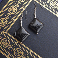 Black and Silver Earrings #1012