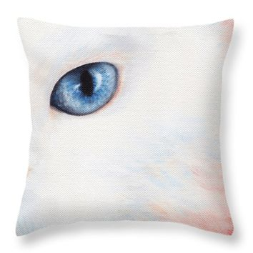 "A couple White Color Throw Pillow for Sale by Kathleen Wong - 16"" x 16"""
