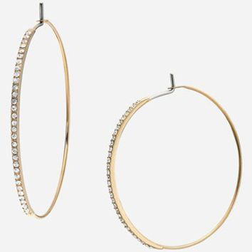 Michael Kors 'Brilliance - Medium Whisper' Hoop Earrings | Nordstrom