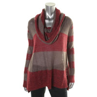 Free People Womens Knit Striped Pullover Sweater
