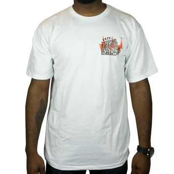 Laugh Last Tee in white