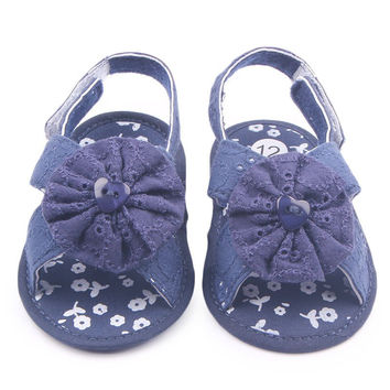 Baby Girls Infant Toddler Sandals Shoes Soft Sole Kids Crib Walking Sneaker Prewalker Shoe SM6