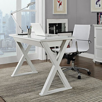 Wonderful Crafted White Xtra Computer Desk by Walker Edison