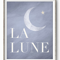 La Lune French Inspired Art Giclee Print