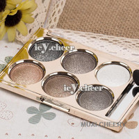 Normal Makeup 6 Smoky Colours Shimmer Eye Shadow Nude Neutral Eyeshadow Warm Set
