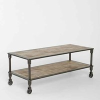 4040 Locust Heritage Rolling Coffee Table- Brown One