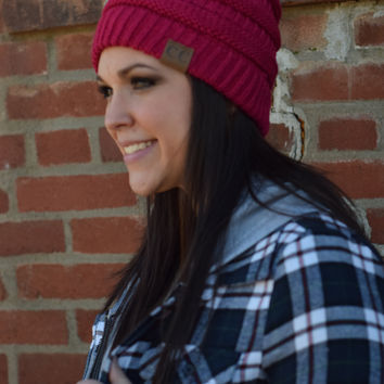 C.C. Beanie {Berry Red}