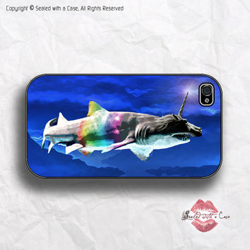 Shark-a-Corn - Unicorn Shark - iPhone 4 Case, iPhone 4s Case and iPhone 5 case, Samsung Galaxy