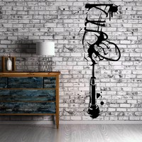 Hand with Microphone Music Band Concert Art Decor Wall Mural Vinyl Sticker Unique Gift M450