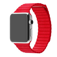 Apple Watch Red Leather Loop Band Strap