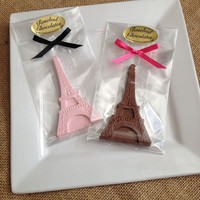 12 Chocolate Eiffel Tower Favors Birthday Party Wedding Bridal Shower Candy