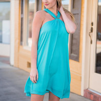Here Comes The Sun Dress, Turquoise