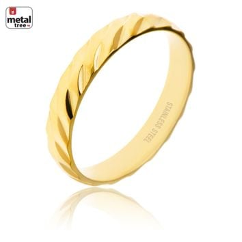 Jewelry Kay style NEW Men's Women's 4 MM Stainless Steel Wedding Band Classic Double CUT Ring