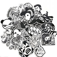 Evinis - 60PCS Random Music Film Vinyl Skateboard Guitar Travel Case Sticker Lot Pack Decals
