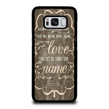 THE AVETT BROTHERS QUOTES Samsung Galaxy S3 S4 S5 S6 S7 Edge S8 Plus, Note 3 4 5 8 Case Cover