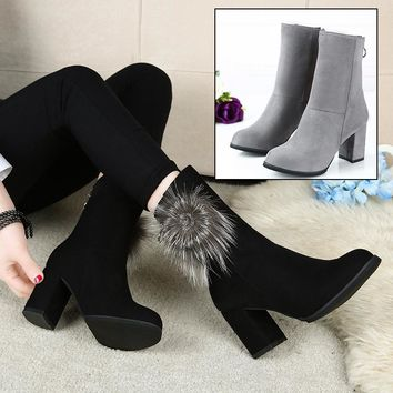 On Sale Hot Deal Stylish Winter England Style Pointed Toe With Heel Casual Boots [79792242713]