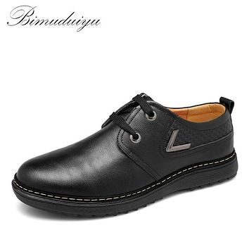 Spring Autumn Business Men's Casual Fashion Leather Flat Single Shoes Minimalist Design 9 Pairs