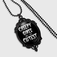 Goth Beauty - Goth Christmas Gift - Creepy Cute Necklace - Creepy Cute Gift - Coffin Necklace - Pastel Goth Necklace - Black Friday